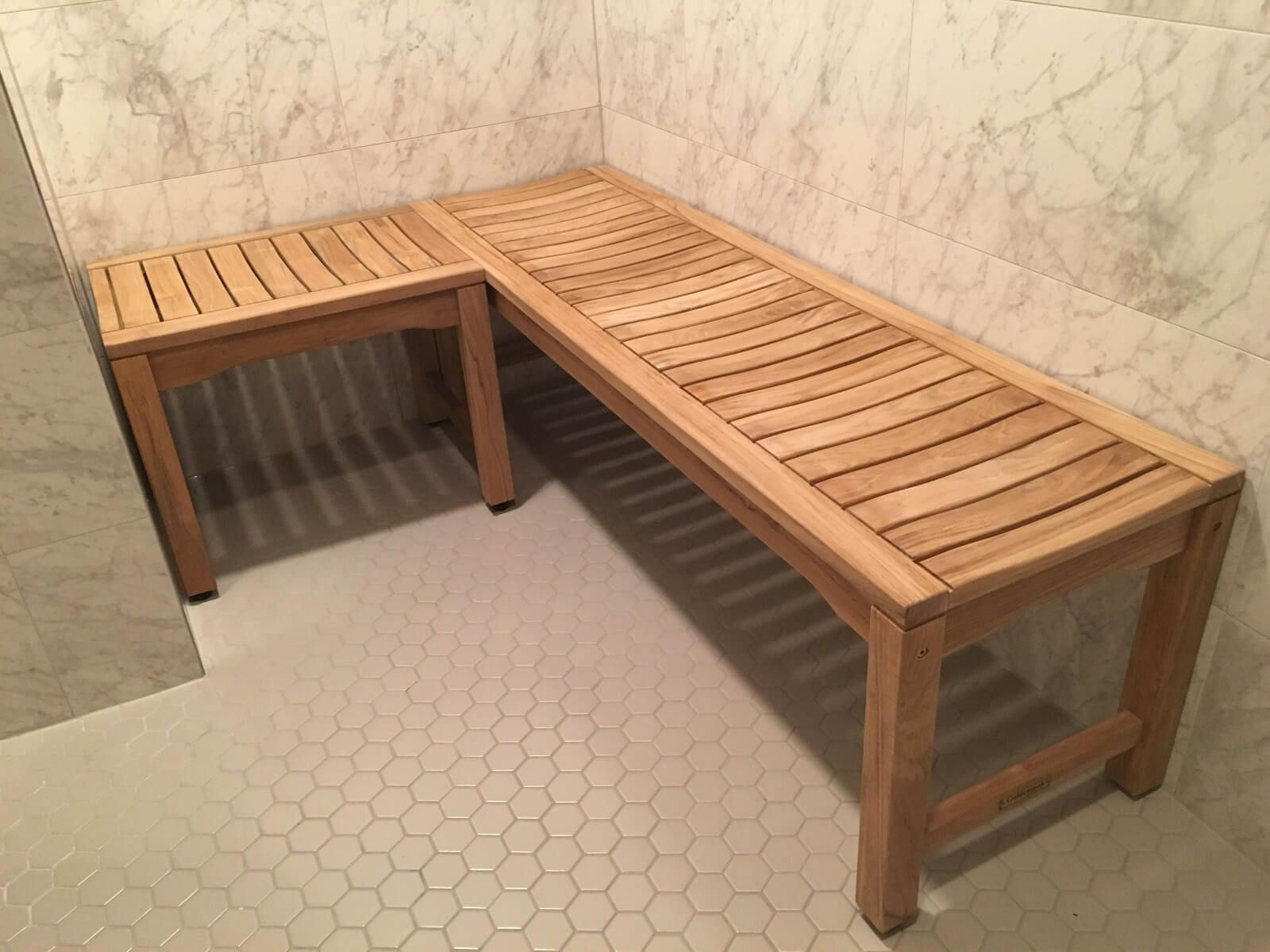 Teak Backless bench - 2 ft, Shower bench 24 in Rosemont ...