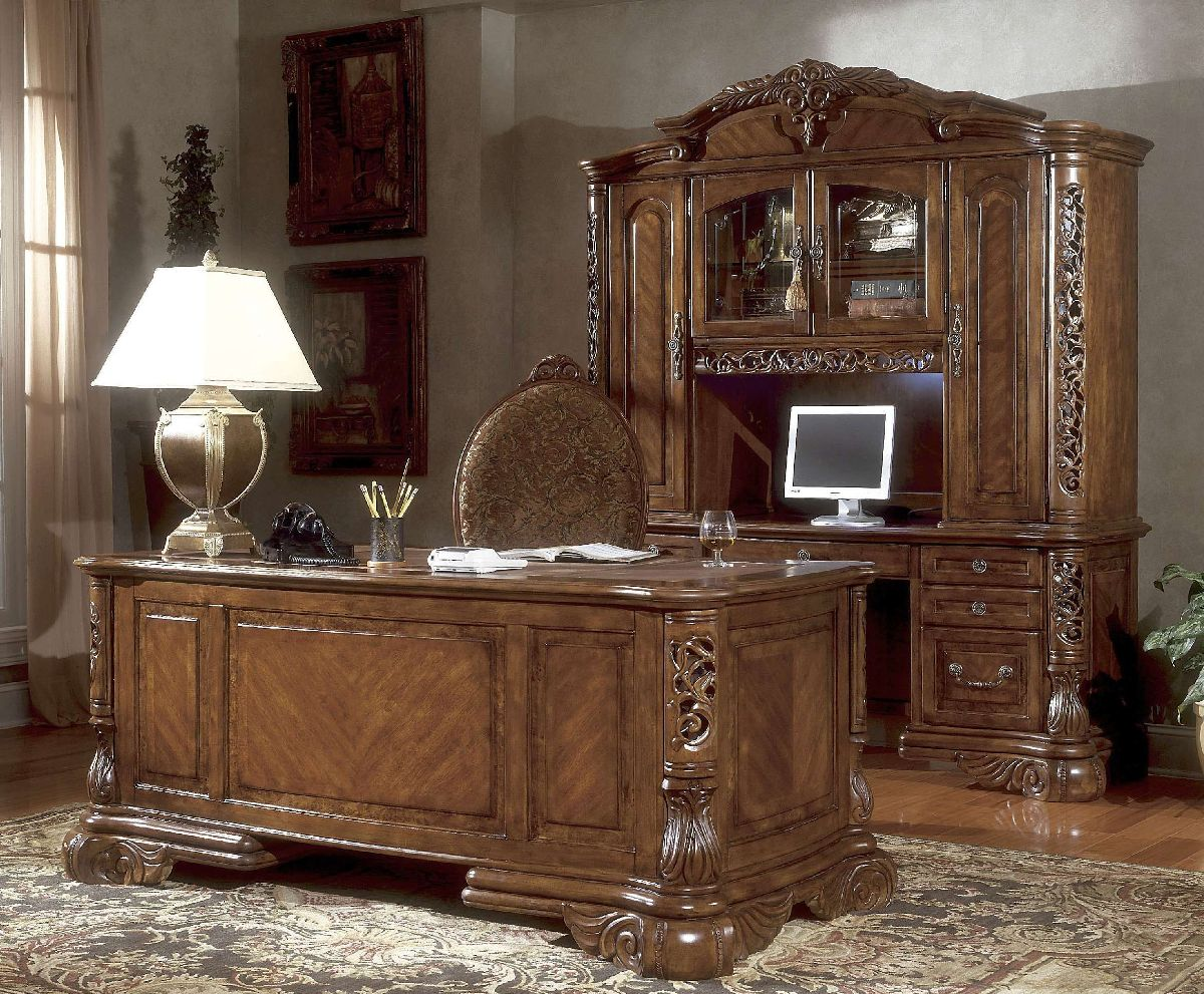 Michael Amini Credenza Excelsior Home Office in Fruitwood ...
