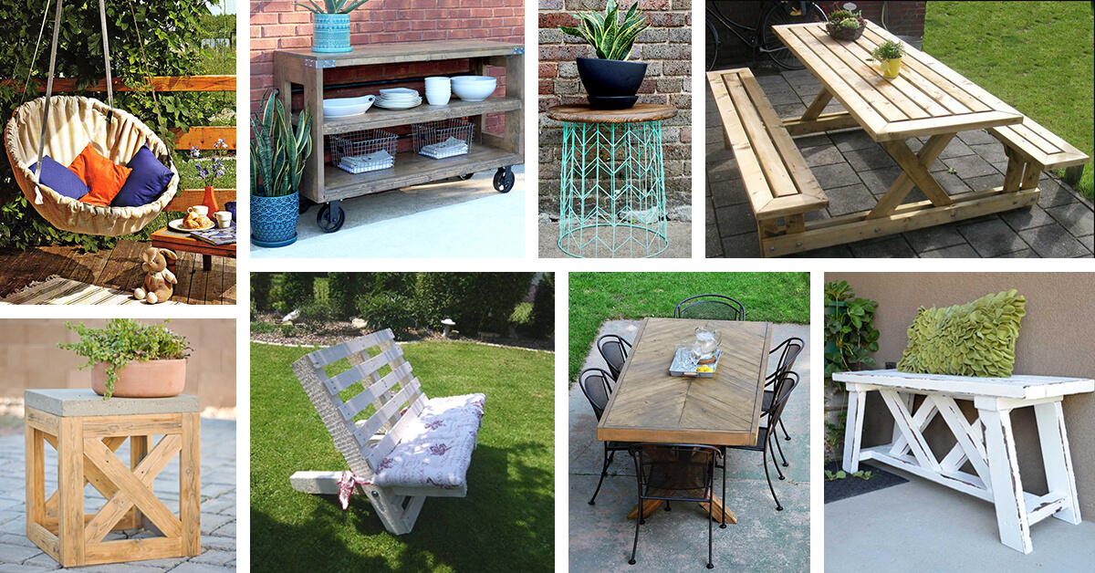 29 Best DIY Outdoor Furniture Projects (Ideas and Designs ...